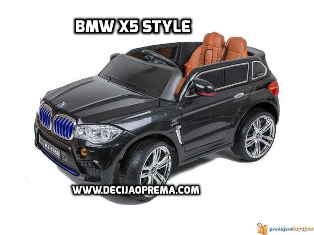 BMW X5 Style na akumulator 12V za decu Crni - 1/6