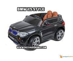 BMW X5 Style na akumulator 12V za decu Crni - Slika 1/6