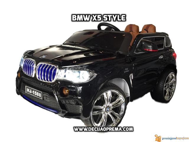 BMW X5 Style na akumulator 12V za decu Crni - 2/6