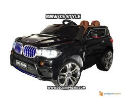BMW X5 Style na akumulator 12V za decu Crni - Slika 2/6