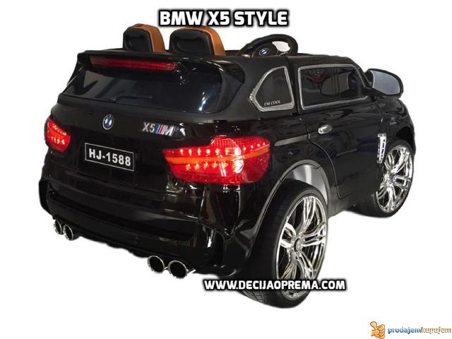 BMW X5 Style na akumulator 12V za decu Crni - 3/6