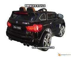 BMW X5 Style na akumulator 12V za decu Crni - Slika 3/6