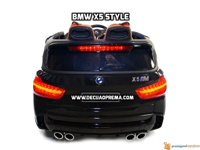 BMW X5 Style na akumulator 12V za decu Crni - 4/6