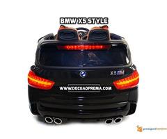 BMW X5 Style na akumulator 12V za decu Crni - Slika 4/6
