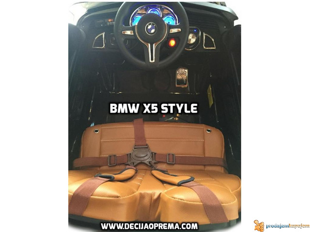 BMW X5 Style na akumulator 12V za decu Crni - 5/6