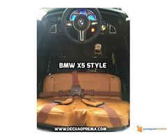 BMW X5 Style na akumulator 12V za decu Crni - Slika 5/6