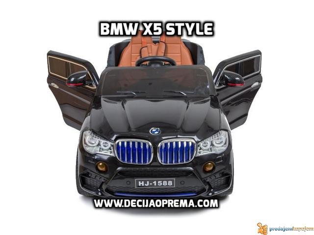 BMW X5 Style na akumulator 12V za decu Crni - 6/6