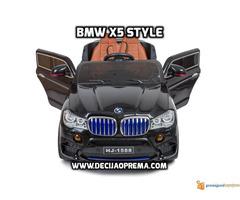 BMW X5 Style na akumulator 12V za decu Crni - Slika 6/6