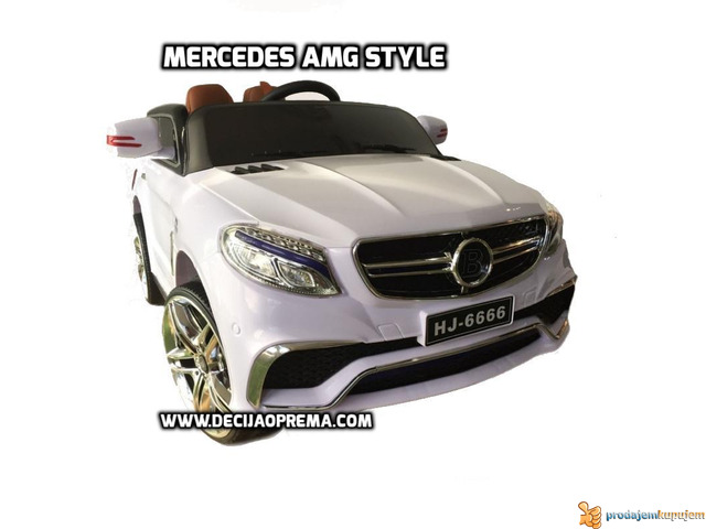 Mercedes AMG Style na akumulator 12V za decu Beli - 1/2