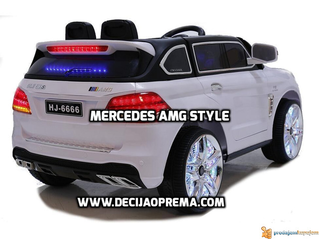 Mercedes AMG Style na akumulator 12V za decu Beli - 2/2