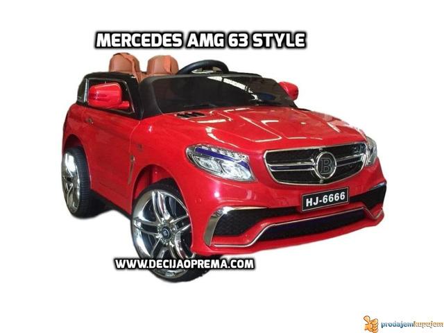 Mercedes AMG Style na akumulator 12V za decu Crveni - 1/3