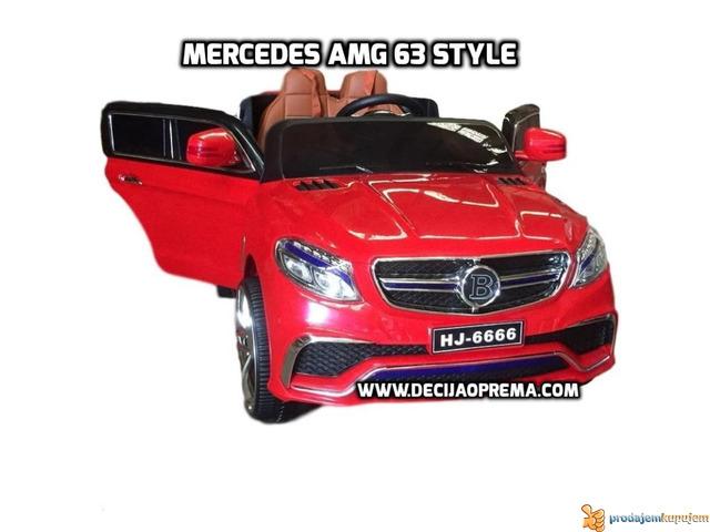 Mercedes AMG Style na akumulator 12V za decu Crveni - 2/3