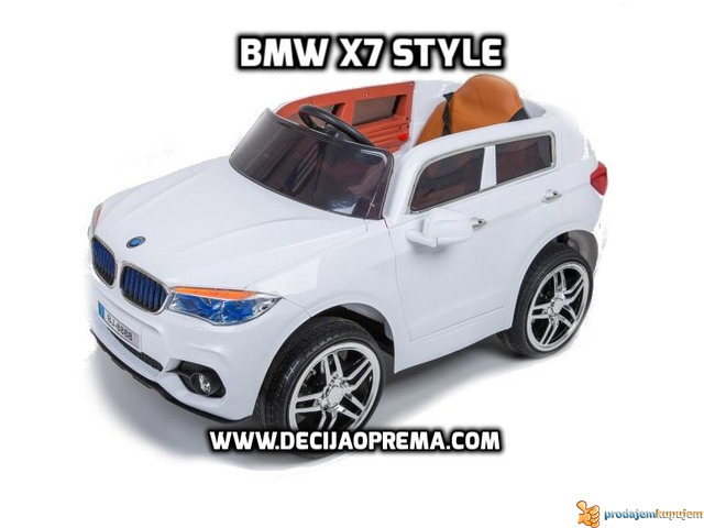 BMW X7 na akumulator 12V za decu Beli - 1/2