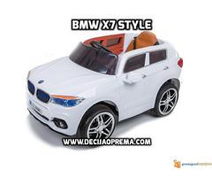 BMW X7 na akumulator 12V za decu Beli - Slika 1/2