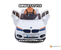 BMW X7 na akumulator 12V za decu Beli - Slika 2/2