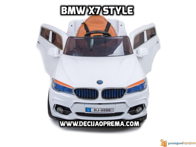 BMW X7 na akumulator 12V za decu Beli - 2/2