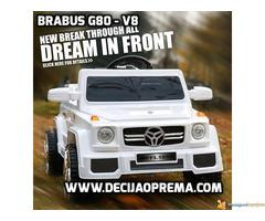 BRABUS G80-V8 Dzip na akumulator za decu Beli - Slika 1/3