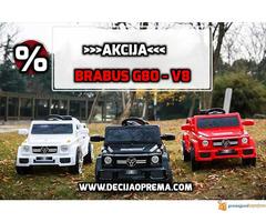 BRABUS G80-V8 Dzip na akumulator za decu Beli - Slika 3/3