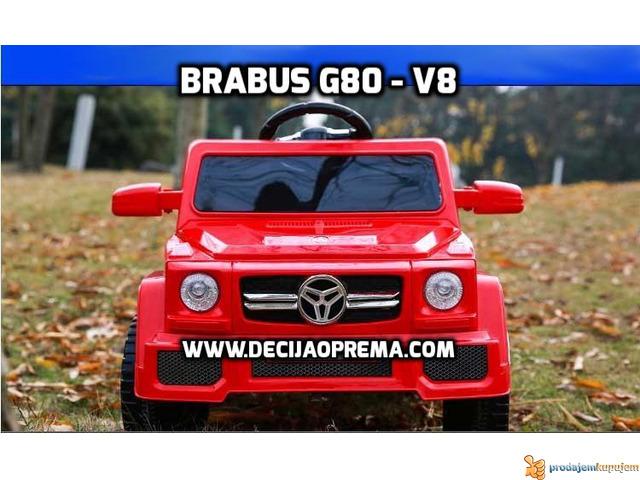 BRABUS G80-V8 Dzip na akumulator za decu Crveni - 1/3