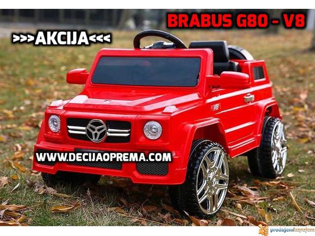 BRABUS G80-V8 Dzip na akumulator za decu Crveni - 2/3