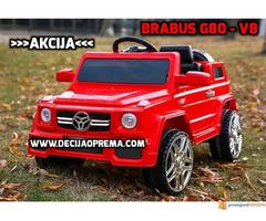 BRABUS G80-V8 Dzip na akumulator za decu Crveni
