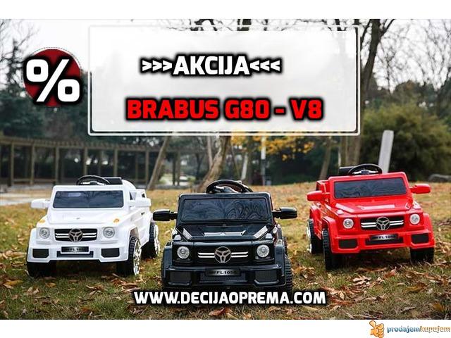 BRABUS G80-V8 Dzip na akumulator za decu Crveni - 3/3