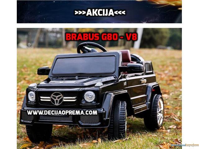BRABUS G80-V8 Dzip na akumulator za decu Crni - 1/2