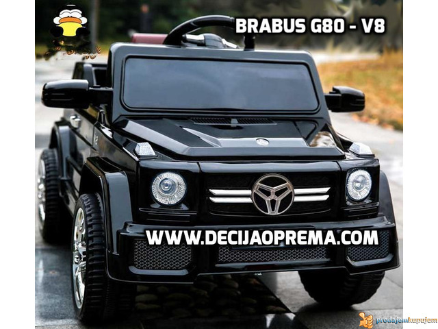 BRABUS G80-V8 Dzip na akumulator za decu Crni - 2/2