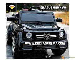 BRABUS G80-V8 Dzip na akumulator za decu Crni
