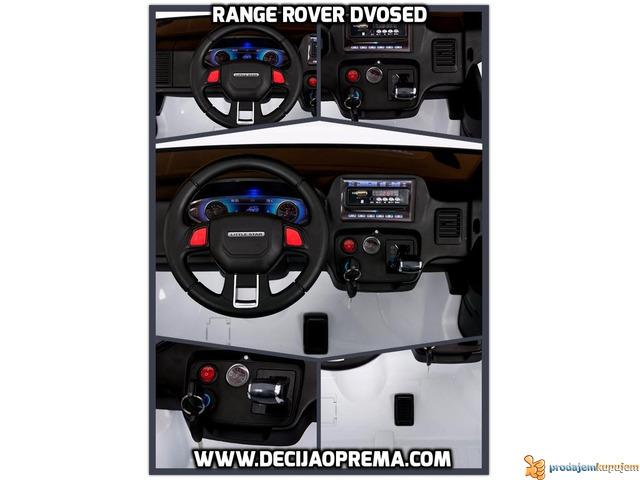 Range Rover Style dvosed na akumulator za decu 12v Beli - 2/3