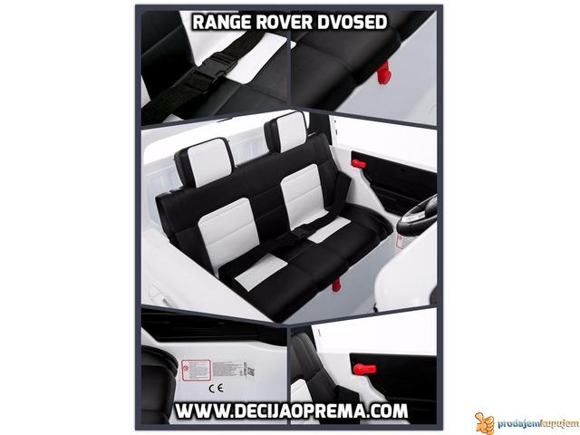Range Rover Style dvosed na akumulator za decu 12v Beli - 1/3