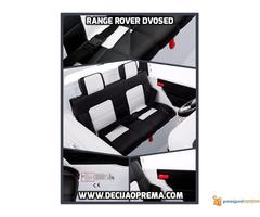 Range Rover Style dvosed na akumulator za decu 12v Crni - Slika 3/3