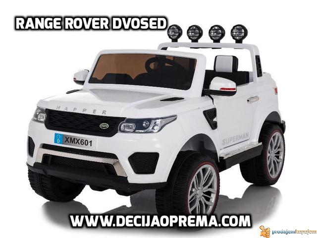Range Rover Style dvosed na akumulator za decu 12v Beli - 1/1