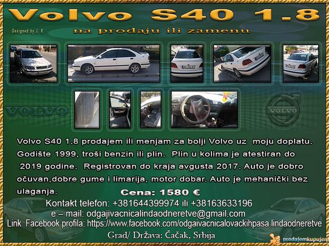 Volvo S40 18 Prodajem Ili Menjam Kupujemprodajem