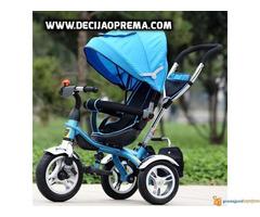 Tricikl za decu Playtime Roto Plavi - Slika 2/2