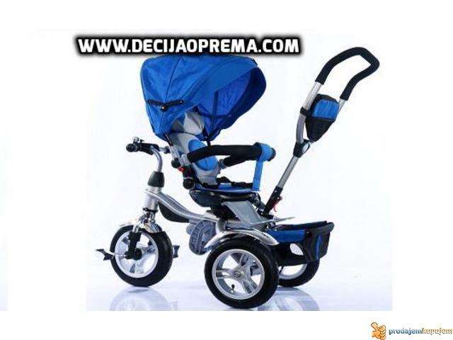 Tricikl za decu Playtime Roto Plavi - 2/2