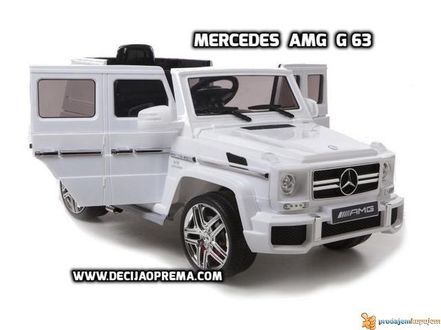 Mercedes AMG G63 Auto na akumulator 12V sa daljinskim Beli - 1/4