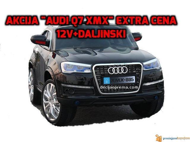 Audi Q7 Style XMX Auto na akumulator 12V sa daljinskim Crni - 1/1