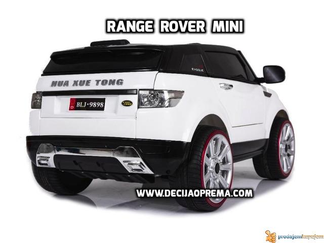 Range Rover Style Mini auto na akumulator 12v za decu Beli - 3/3